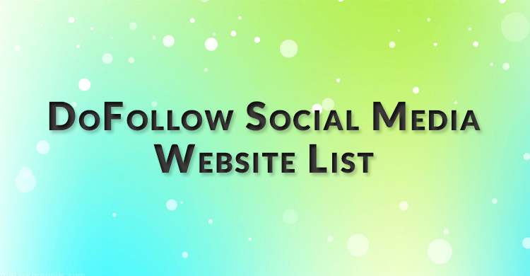 dofollow soical media sites